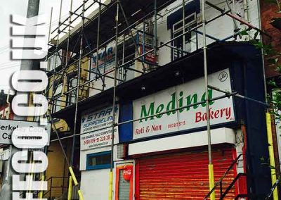 Commercial building scaffolding Wakefield by Scaff-co Scaffolding Services